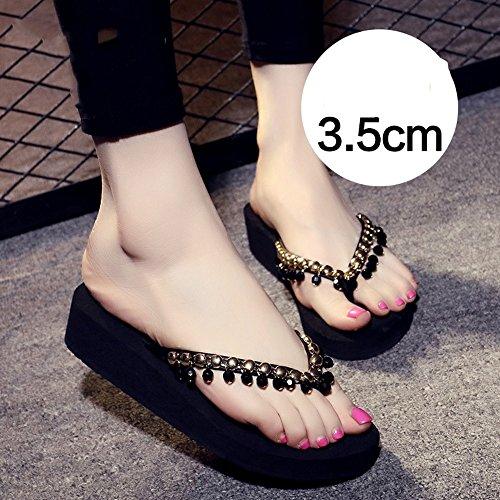 5cm Beige MEIDUO 3 Gris cómodo sandalias Negro Zapatillas Black Marrón antideslizantes Chanclas XHBpvxqp