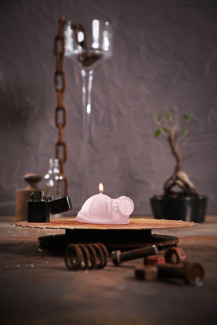 Candellana Candles 5903104806873 Mining Helmet Light Pink