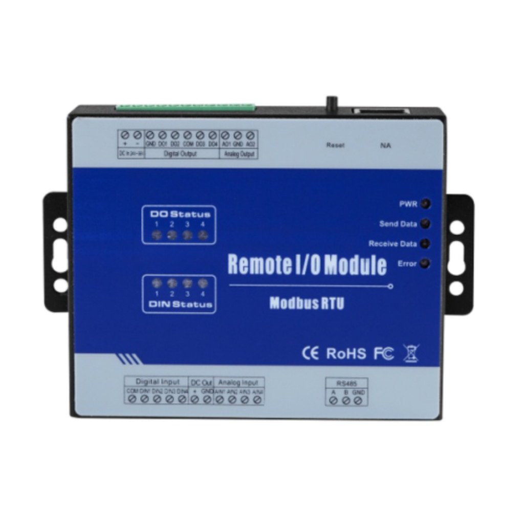 B Blesiya RS485 Remote Control Relay Switch Modbus Data Acquisition Module Data Collector 2DI+2DO+2AI