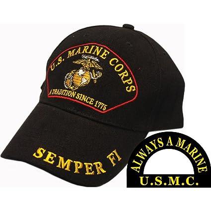 Amazon.com  U.S. Marine Corps A Tradition Since 1775 Semper Fi Hat ... 69df5360ea66