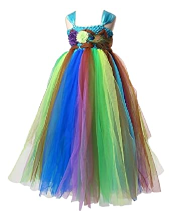 b6addde86dc THE LONDON STORE Baby Girl s Peacock Feather Style Blue Tutu Dresses  (2-Years