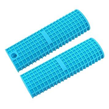 didihou soporte 2 Pack manopla mango caliente de silicona para skillets de hierro fundido, sartenes, sartenes y planchas, Metal y asas de aluminio batería ...