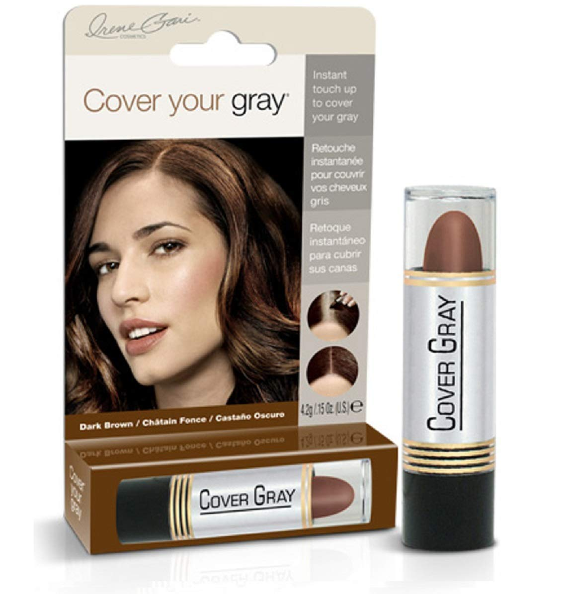 Cover Your Gray Hair Color Touch-Up Stick - Dark Brown (6-Pack) by Cover Your Gray