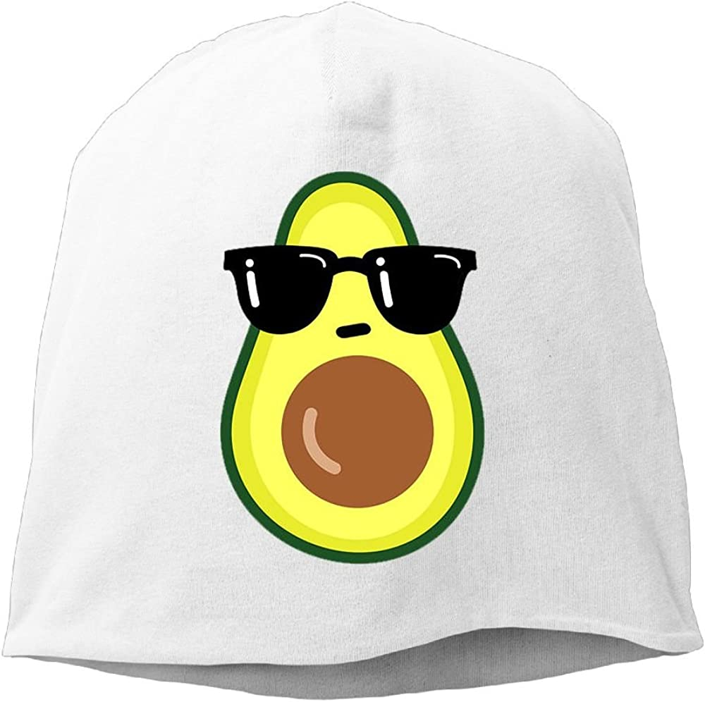 Janeither Headscarf Cool Avocado with Glasses Hip-Hop Knitted Hat for Mens Womens Fashion Beanie Cap