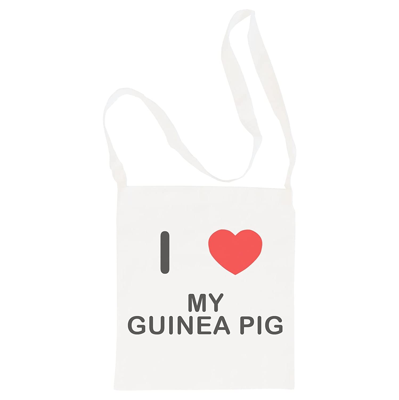 Cotton Long Handle Sling Bag I Love My Guinea Pig