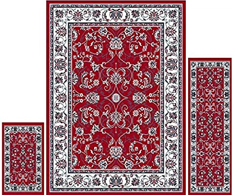 Home Dynamix Area Rugs - Ariana Collection 3-Piece Living Room Rug Set - Ultra Soft & Super Durable Home Décor - HD812-215 (Soft Area Rug Sets)