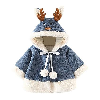 bd05d39807b5d 女の子 コート Timsa アウター ジャケット ヘラジカ アントラーズ フード付き 子供服 ポンチョ コート クリスマスマント ケープ