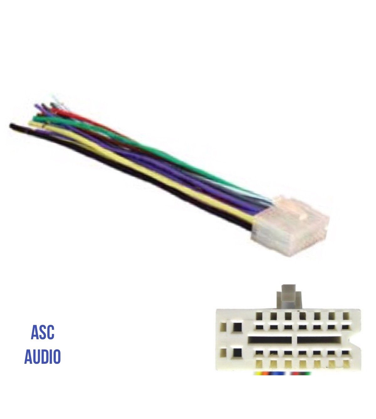 Asc Audio Car Stereo Radio Wire Harness Plug For Select Cd Changer Clarion Cz100 Wiring Diagram 16 Pin Radios Xdz616cz100z101cz200cz201 Cz300cz301cz401cz500cz501
