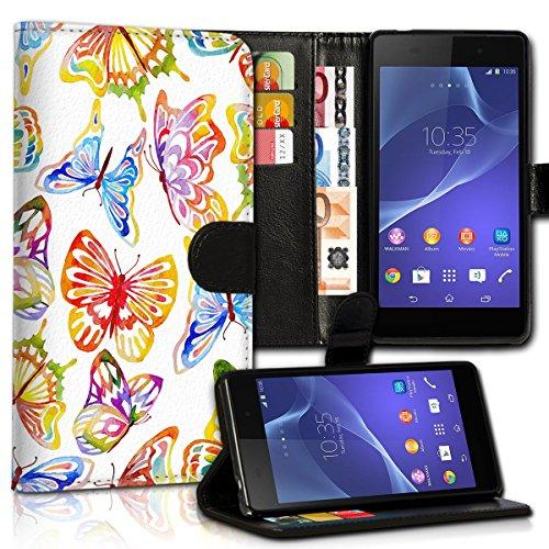Wallet Book Style Flip Handy Tasche Case Schutz Hülle Schale Motiv Etui für Apple iPhone 4 / 4S - Design Flip MVD106