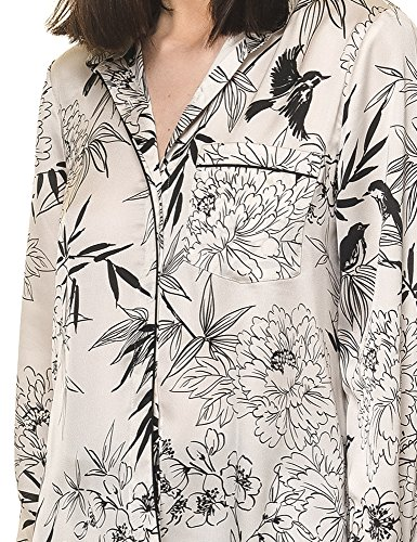 Glamorous Women's Women's White Shirt With Floral Print 100% Polyester White