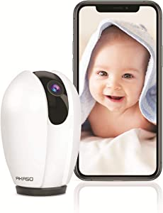 AKASO Baby Monitor, 1080P Wireless Home Security Camera Indoor with Sound and Motion Detection, Two-Way Audio, Night Vision,Pet Camera, Compatible with Alexa and Google Home