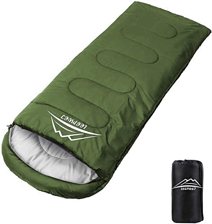 LEEPWEI 寝袋 封筒型 軽量 保温 210T防水シュラフ