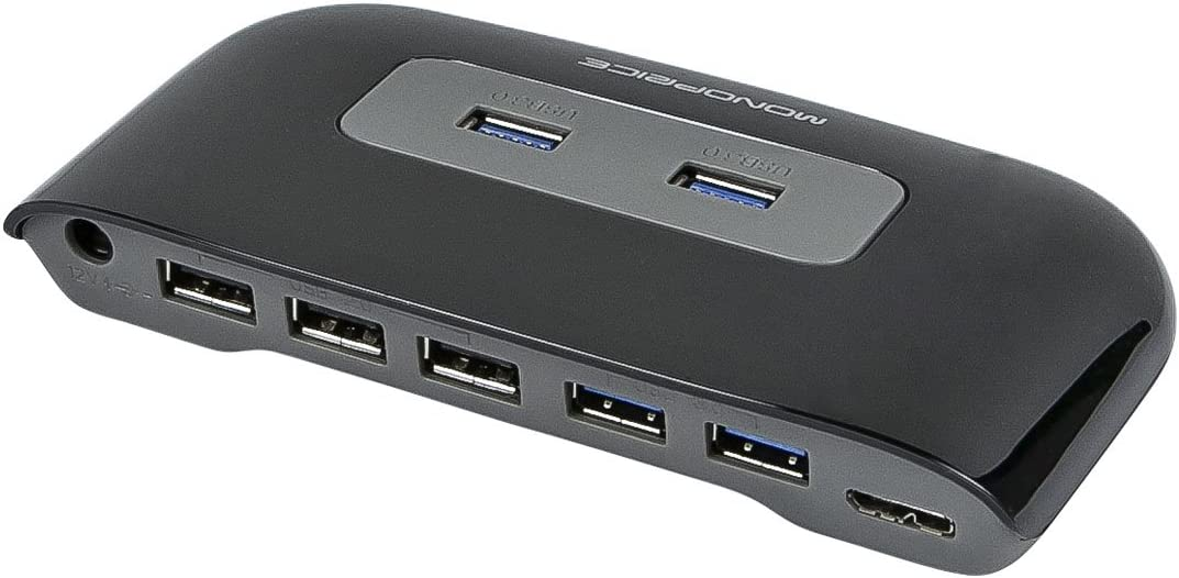 Support Overload Voltage and Instantaneous Current Protection Plug and Play Pusokei USB3.0 7 High-Speed Hub USB Fast Charging Interface Covenient to Use