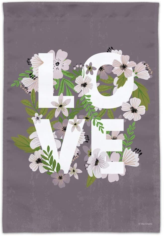 GRAPHICS & MORE Love Entwined Flowers Wedding Bridal Shower Garden Yard Flag