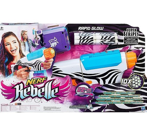 NERF Rebelle - Super Stripes Rapid Glow
