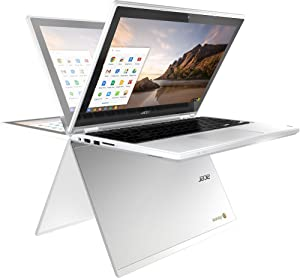 Acer R11 11.6in Convertible HD IPS Touchscreen Chromebook, Intel Celeron Dual Core up to 2.48GHz, 4GB RAM, 16GB SSD, 802.11ac, Bluetooth, HDMI, USB 3.0, Webcam, Chrome OS (Renewed)