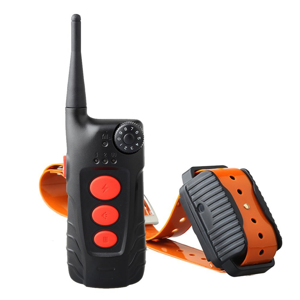 Aetertek At-918C 600 Yard Waterproof Remote Control Training Collar Shock Trainer Auto Anti Bark Feature for 1 Dog Rechargeable Collar