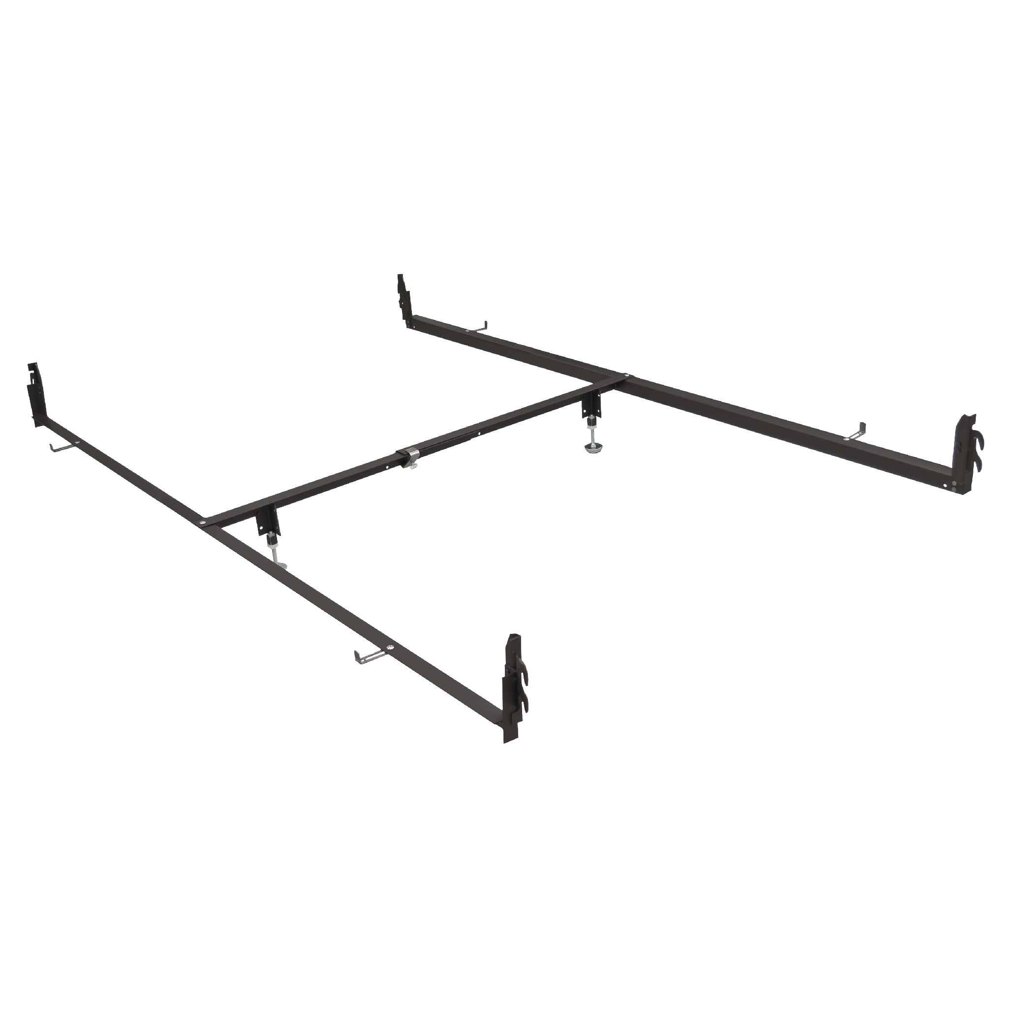 Glideaway DRCV1L Bed Rail System - Adjustable Steel Drop Rail Kit to Convert Full Size Beds to Fit Queen Size Mattresses - Suitable For Antique Beds - Hook-in Attachments