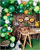 2019 Upgrade Jungle Safari Theme Party Supplies, 102 PCS Balloon Garland Kit, Favors for Kids Boys Birthday Baby Shower Decor, Balloons for Parties, Party Birthday Balloons Decorations
