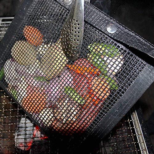 Katigan 2 PièCes Sac de Barbecue de Maille Anti-AdhéSive Griller Le Sac Outil de Pique-Nique en Plein Air Facile à Nettoyer Haute RéSistance à la TempéRature Sac de Cuisson BBQ
