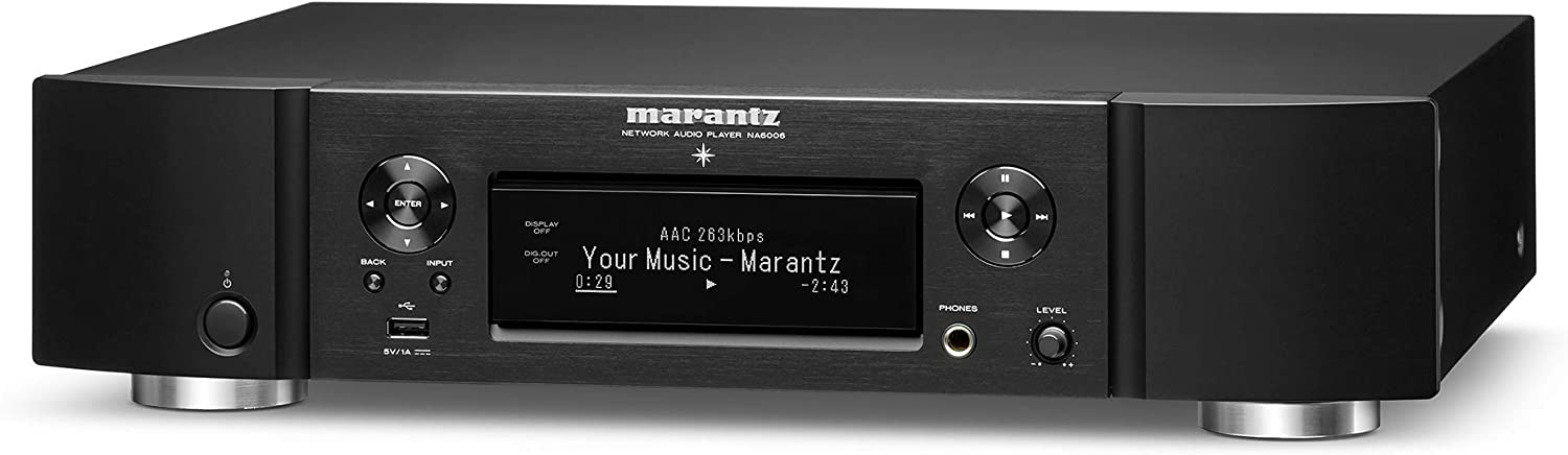 Marantz NA6006 Network Audio Player   Audiophile Designed D/A Conversion, HDAM, Digital Filtering   with WiFi, Airplay 2, Bluetooth & HEOS   Amazon Alexa Compatibility