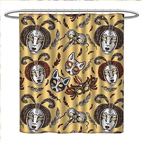 Anyangeight Masquerade Shower Curtains Sets Bathroom Venetian Style