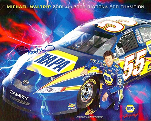 Signed Michael Waltrip Picture - 2007 NAPA KNOW HOW RACING 8x10 Postcard - Autographed NASCAR Photos