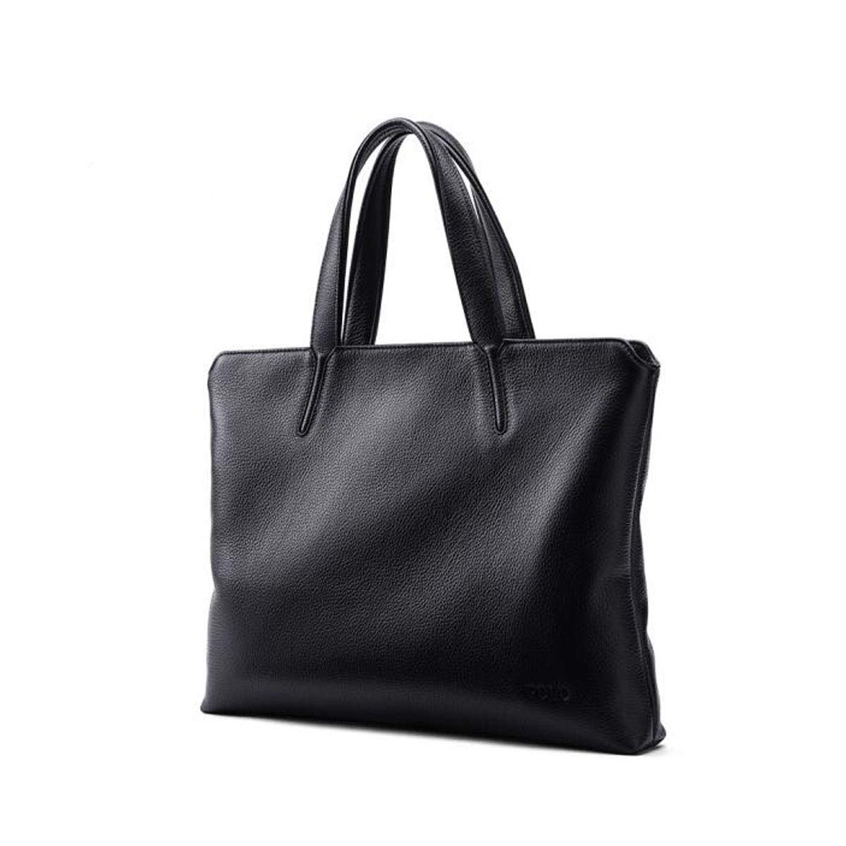 Large Capacity Mens Computer Bag Black Size: 38529cm Briefcase Top Leather Business Tote