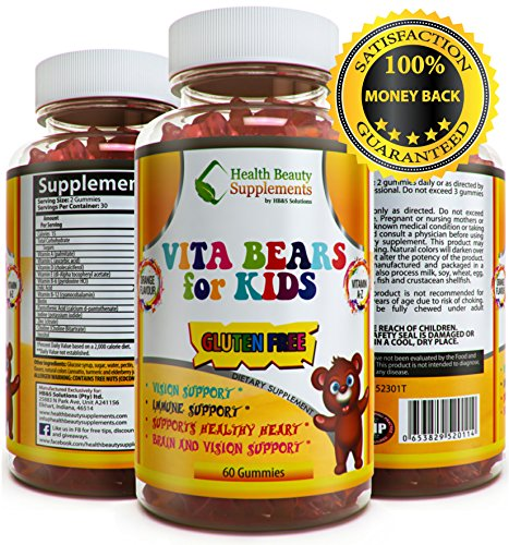 * VITA BEARS FOR KIDS * GLUTEN FREE Kids Multivitamin – All Natural Flavors – Chewable Multivitamin For Kids – Delicious Flavors With Vitamin A,Vitamin B,Vitamin C,Vitamin D,Vitamin E, (Chewable Zinc Vitamins)