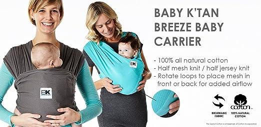 Baby KTan Baby-Tragetuch X-Large Schwarz Black Breeze