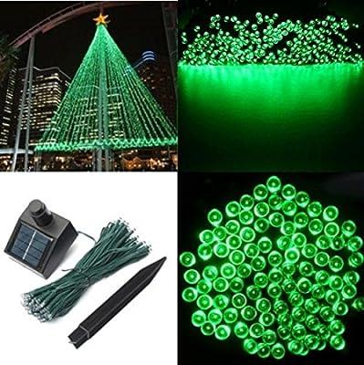 1Pc Momentous Modern 200x LED Solar Power Nightlight Xmas Props Garden Lawn Waterproof Gift Colors Green