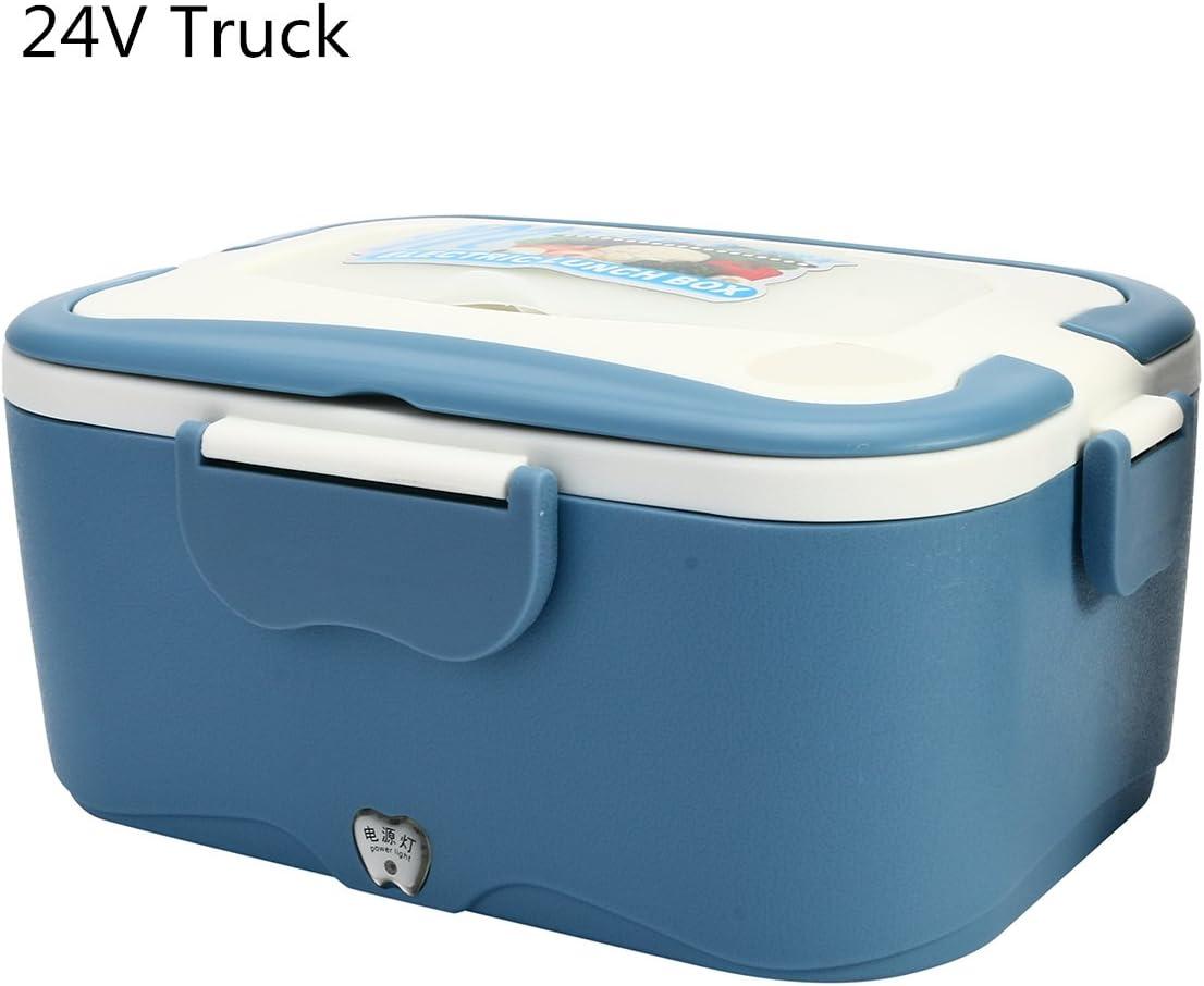 GOZAR 1,5 L 12V/24V Coche Eléctrico Caja De Almuerzo Al Aire Libre Viaje Calentador De Comida Camión Lunch Box-24V