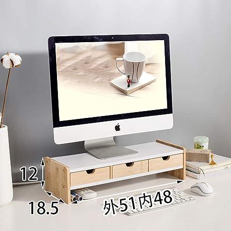 Baño dormitorio de madera Soportes para monitores, cuello soporte ...
