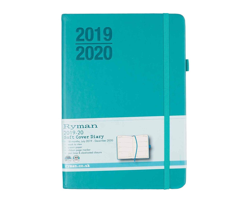 Black Ryman Diary Day per Page A5 2020 Color