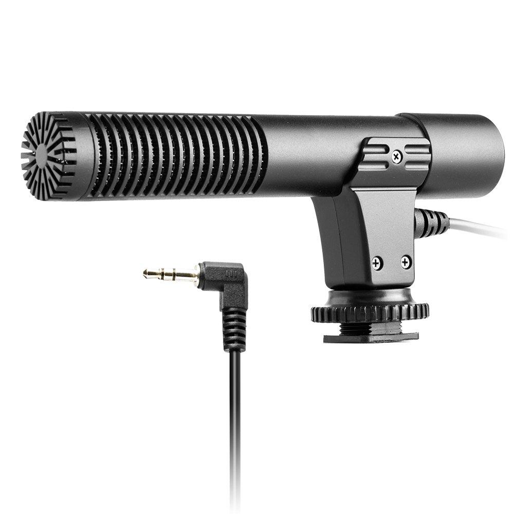 Pergear MIC-01プロフェッショナルステレオマイク 一眼レフカメラ&ビデオカメラ CANON Nikon Pentax Digital用   B074JCZ96H