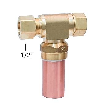 Dyconn Faucet Water Hammer Arrestor Compression Tee 1/2 X 1/2u0026quot; Pipe  sc 1 st  Amazon.com & Dyconn Faucet Water Hammer Arrestor Compression Tee 1/2 X 1/2