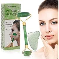 Rodillo de jade, masajeador facial de rodillo