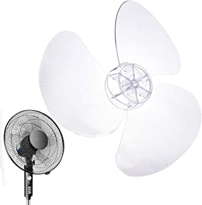 CHICTRY 12 Inch Fan Blade 3 Leaves Plastic Fan Blade Replacement for Household Standing Pedestal Fan Table Fanner General Accessories Clear One Size