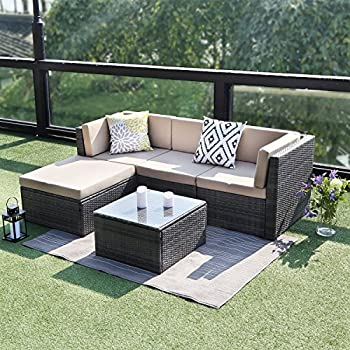 Amazon.com : Wisteria Lane Outdoor Patio Furniture Set, 5 Piece ...