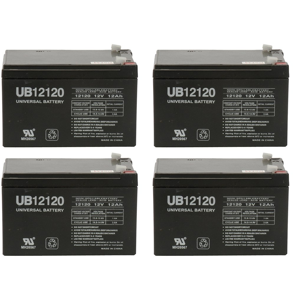 12V 12Ah Sealed Lead Acid Replacement Battery for Rhino SLA10-12 - 4 Pack