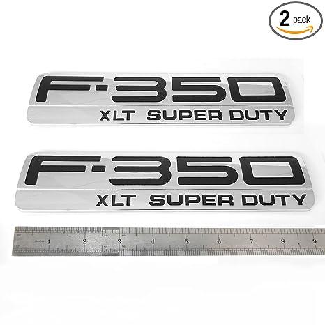 1 Pack F-350 XLT Super Duty Side Fender Emblems Badge 3D logo Replacement for F350 XLT Pickup Red