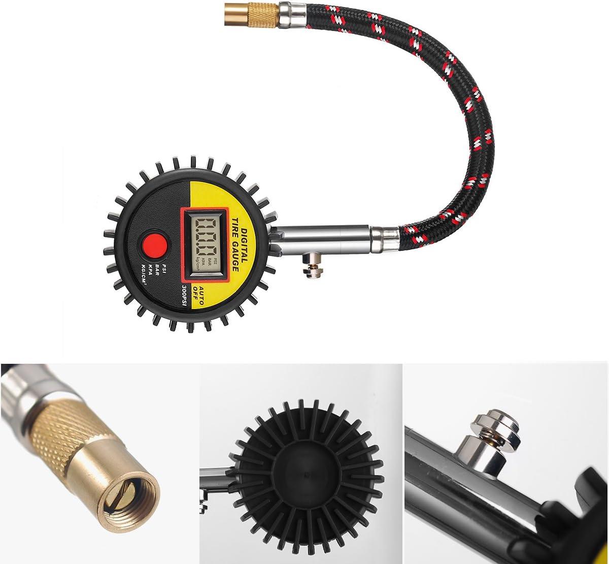 Reifendruckprüfer Jesshiny Digitaler Reifendruckmesser Für Auto 300 Psi Tragbare Präzision Reifendruck Messgerät Mit Hinterleuchtet Lcd Bildschirm Für Auto Motorrad Auto