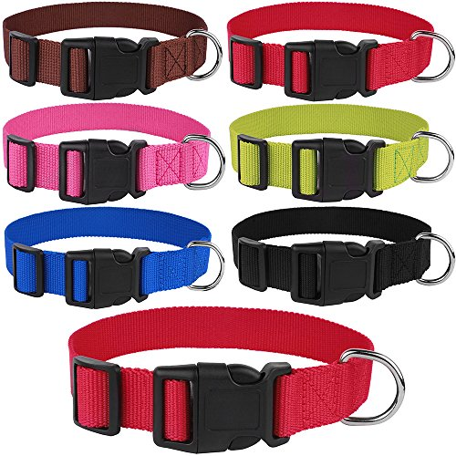 CollarDirect Nylon Dog Collar Side Release Buckle Adjustable
