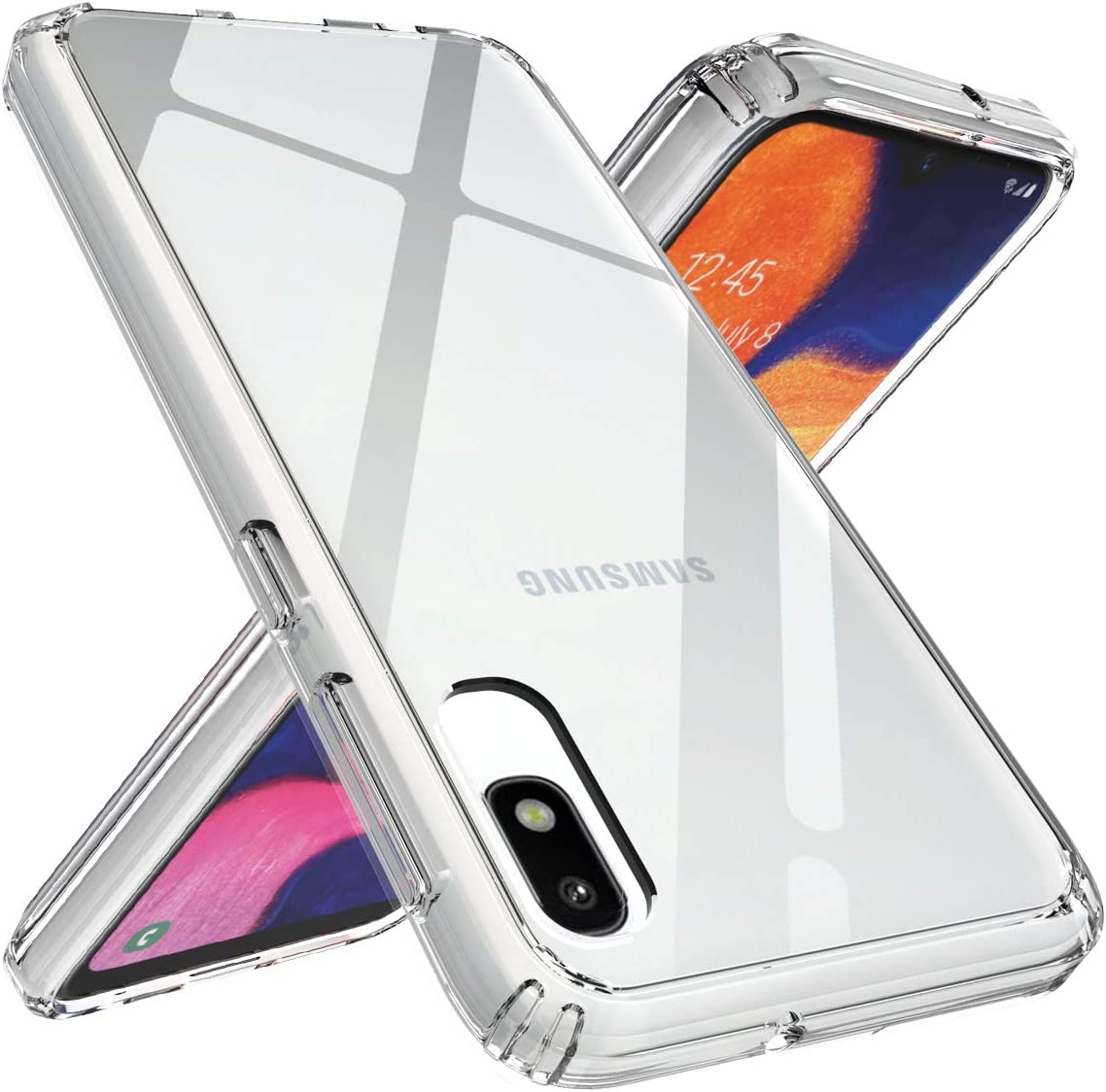 TalkingCase Clear TPU Phone Case for Samsung Galaxy A10E,SM-A102U,Dairy Cow Fur Print,Light Weight,Flexible,Anti-Scratch,Tempered Glass Screen Protector Included,Designed in USA