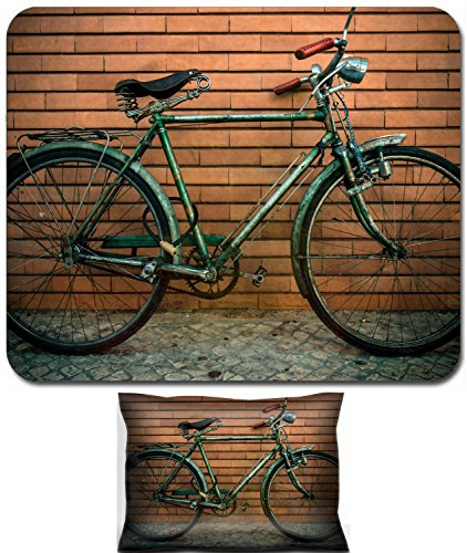 Liili Mouse Wrist Rest and Small Mousepad Set, 2pc Wrist Support IMAGE ID 33279108 Vintage bicycle against a wall
