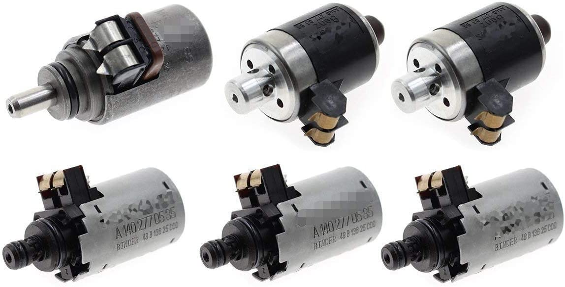6-Pcs 722.6 Automatic Transmission Solenoids Set New for Mercedes Benz 5-Speed