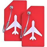 Silicone Luggage Tag With Name ID Card Perfect to Quickly Spot Luggage Suitcase