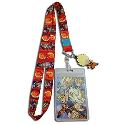 Great Eastern Entertainment Dragon Ball Super Anime Saiyans Balls Lanyard With ID Badge