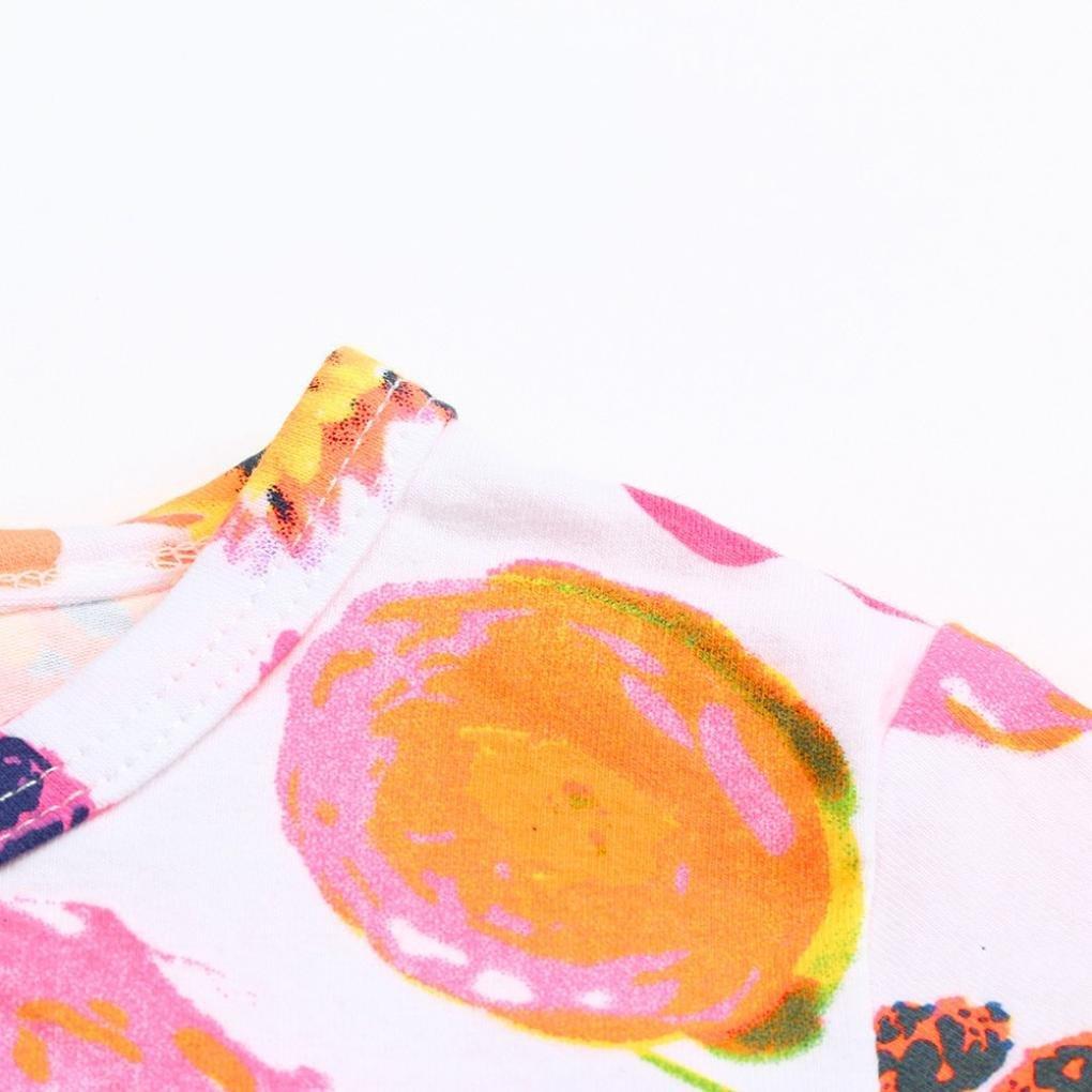 Memela Newborn Baby Girls Floral Romper With Frills