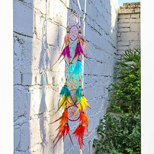 H&D Chakra Dream Catcher Chandelier Prisms Suncatcher Handmade Rainbow Fengshui Pendant (Style-5) by H&D (Image #2)